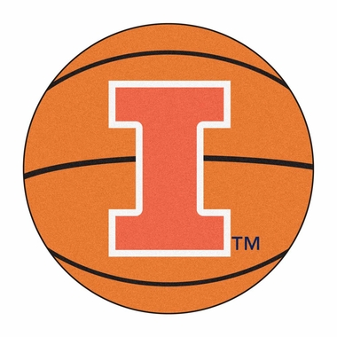 Illinois Basketball Shaped Rug