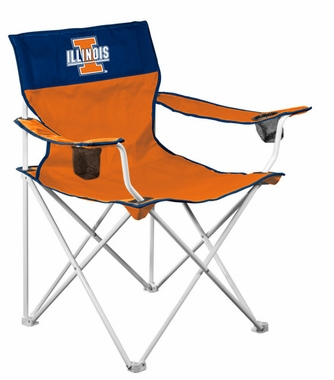 Illinois Big Boy Adult Folding Logo Chair