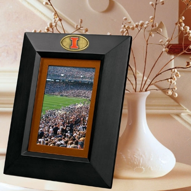Illinois BLACK Portrait Picture Frame