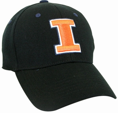 Illinois Black Premium FlexFit Baseball Hat
