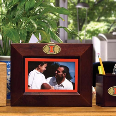 Illinois BROWN Landscape Picture Frame