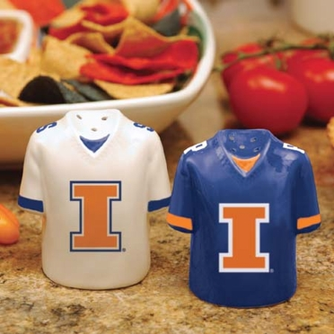 Illinois Ceramic Jersey Salt and Pepper Shakers