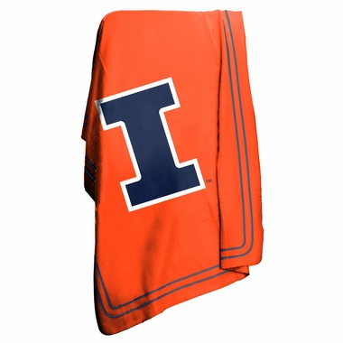 Illinois Classic Fleece Throw Blanket