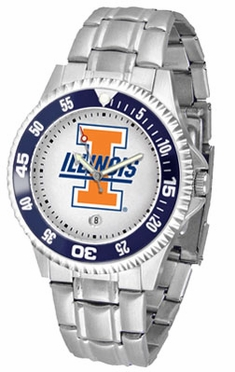Illinois Competitor Men's Steel Band Watch