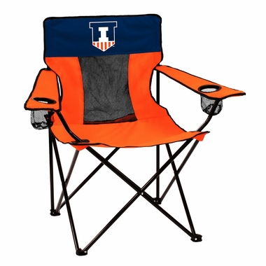 Illinois Deluxe Adult Folding Logo Chair