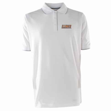 Illinois Mens Elite Polo Shirt (Color: White)