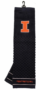 Illinois Embroidered Golf Towel