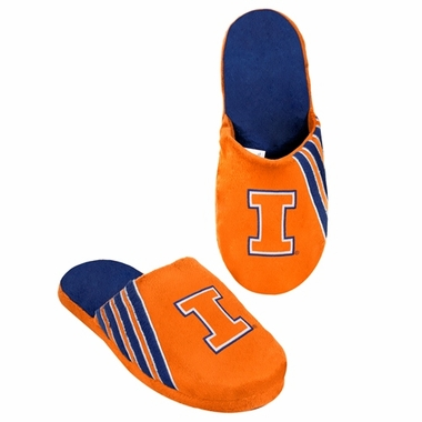 Illinois Fighting Illini 2012 Team Stripe Logo Slippers