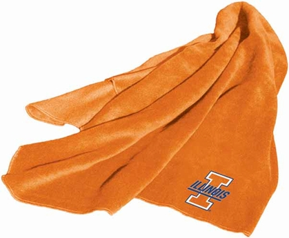 Illinois Fleece Throw Blanket