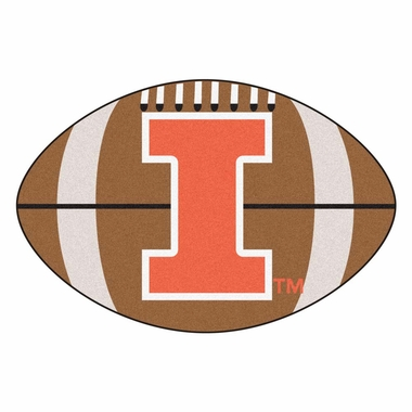 Illinois Football Shaped Rug