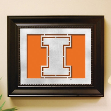 Illinois Framed Laser Cut Metal Wall Art
