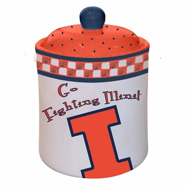 Illinois Gameday Ceramic Cookie Jar