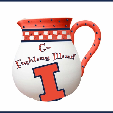 Illinois Gameday Ceramic Pitcher