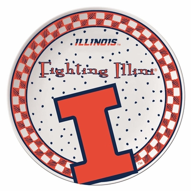 Illinois Gameday Ceramic Plate