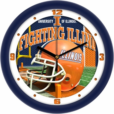 Illinois Helmet Wall Clock