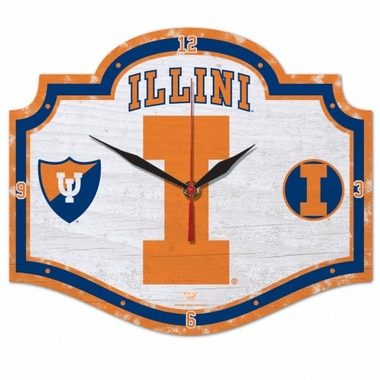Illinois High Definition Wall Clock