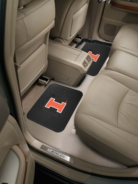 Illinois SET OF 2 Heavy Duty Vinyl Rear Car Mats