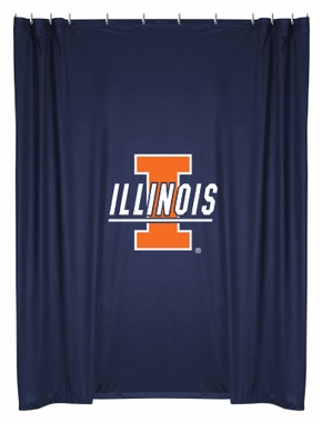 Illinois Jersey Material Shower Curtain