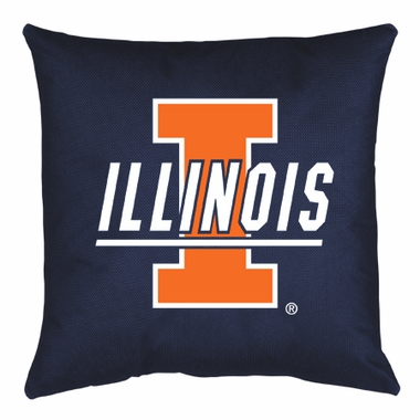 Illinois Jersey Material Toss Pillow