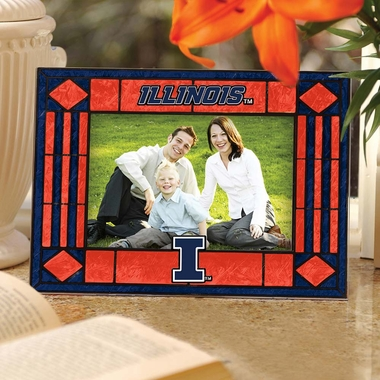 Illinois Landscape Art Glass Picture Frame