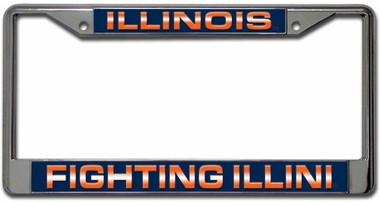 Illinois Laser Etched Chrome License Plate Frame