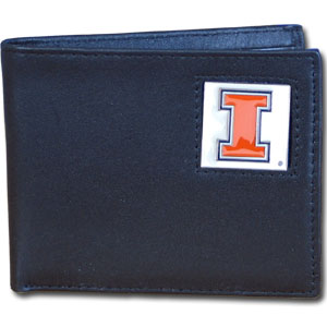 Illinois Leather Bifold Wallet (F)
