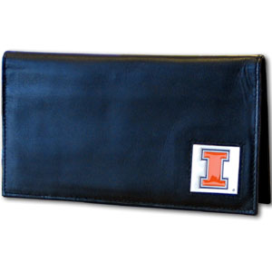 Illinois Leather Checkbook Cover (F)