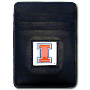 Illinois Leather Money Clip (F)