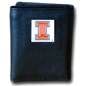 Illinois Leather Trifold Wallet (F)