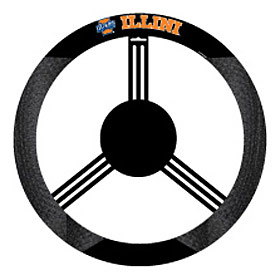 Illinois Fighting Illini Steering Wheel Cover - Mesh