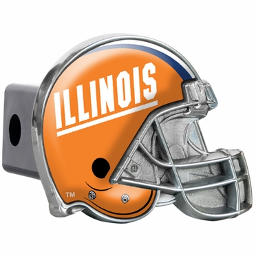 Illinois Metal Helmet Trailer Hitch Cover