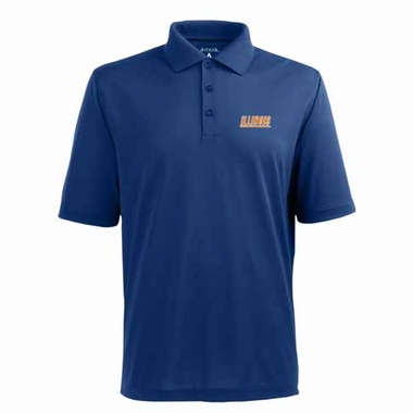 Illinois Mens Pique Xtra Lite Polo Shirt (Alternate Color: Royal)