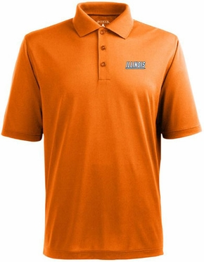 Illinois Mens Pique Xtra Lite Polo Shirt (Team Color: Orange)