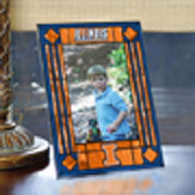 Illinois Portrait Art Glass Picture Frame