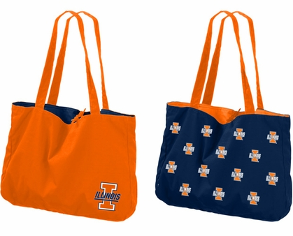Illinois Reversible Tote Bag