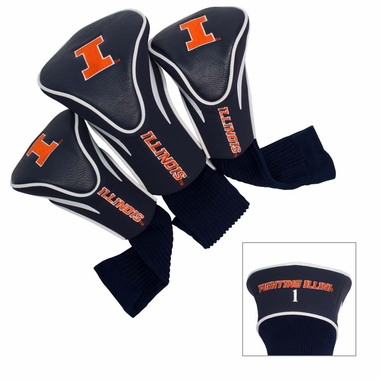 Illinois Set of Three Contour Headcovers