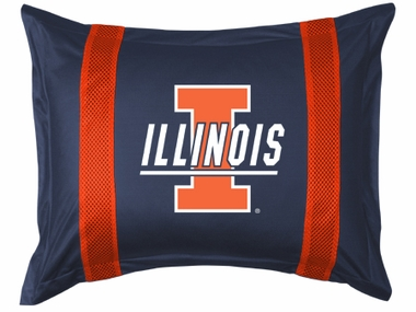 Illinois SIDELINES Jersey Material Pillow Sham
