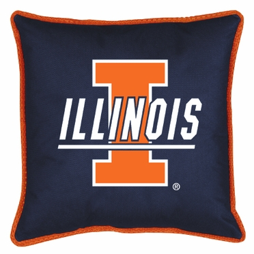 Illinois SIDELINES Jersey Material Toss Pillow