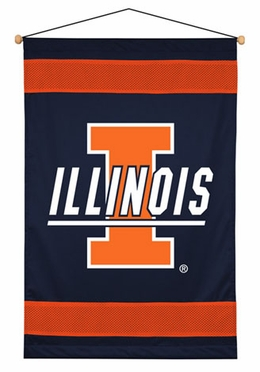 Illinois SIDELINES Jersey Material Wallhanging