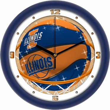 Illinois Slam Dunk Wall Clock