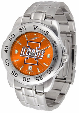 Illinois Sport Anonized Men's Steel Band Watch