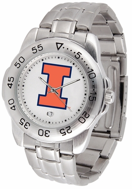 Illinois Sport Men's Steel Band Watch