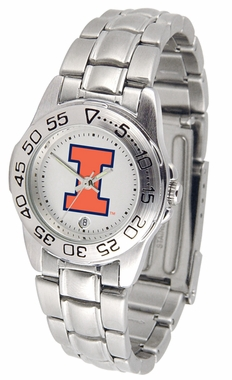 Illinois Sport Women's Steel Band Watch