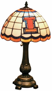 Illinois Stained Glass Table Lamp