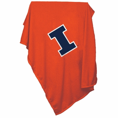 Illinois Sweatshirt Blanket