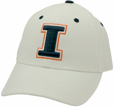Illinois White Premium FlexFit Hat