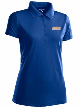 Illinois Womens Pique Xtra Lite Polo Shirt (Team Color: Navy)
