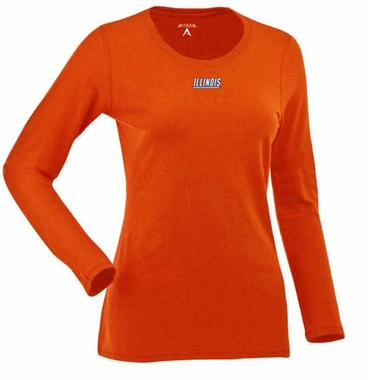Illinois Womens Relax Long Sleeve Tee (Team Color: Orange)