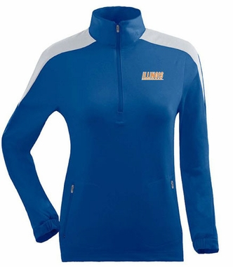 Illinois Womens Succeed 1/4 Zip Performance Pullover (Team Color: Royal)