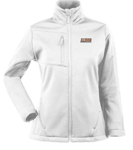 Illinois Womens Traverse Jacket (Color: White) - Large